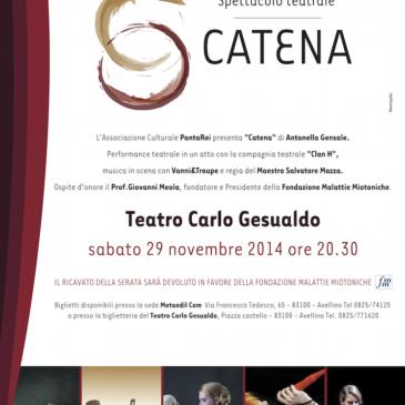 """SPETTACOLO """"CATENA"""" AL TEATRO GESUALDO, AVELLINO (AV)"""