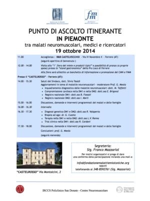 PUNTO DI ASCOLTO ITINERANTE IN PIEMONTE,FERRERE(AT)