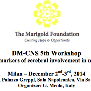 5° WORKSHOP MYOTONIC DYSTROPHY CEREBRAL INVOLVEMENT