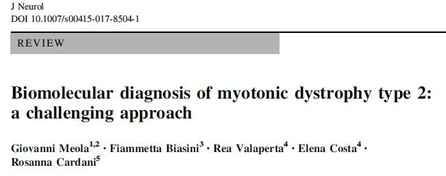 Una review per la diagnosi della Distrofia Miotonica di tipo 2