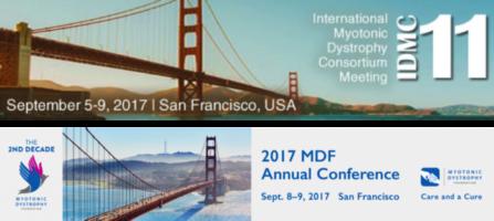 IDMC-11 (Consorzio Internazionale sulle Distrofie Miotoniche)  San Francisco, 5-9 settembre 2017