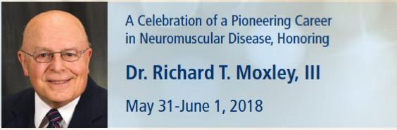 Celebrazione in onore del Prof. Richard Moxley, grande clinico e ricercatore nel campo delle distrofie miotoniche